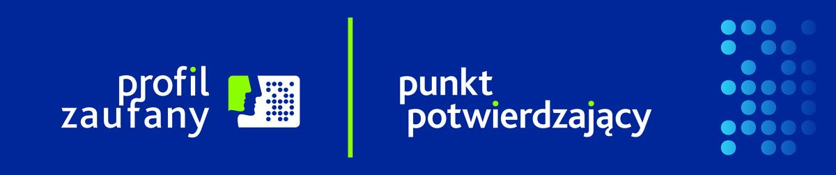 Obrazek przedstawia logotypy Profilu zaufanego wraz z punktem potwierdzającym.